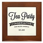 Tea Party Conservative Framed Tile