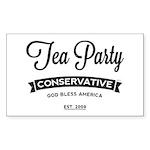 Tea Party Conservative Sticker