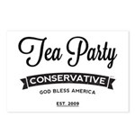 Tea Party Conservative Postcards (Package of 8)