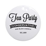 Tea Party Conservative Ornament (Round)