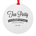 Tea Party Conservative Ornament