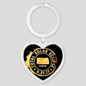 Eclipse Kansas Heart Keychain
