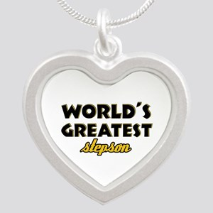 Stepson designs Silver Heart Necklace