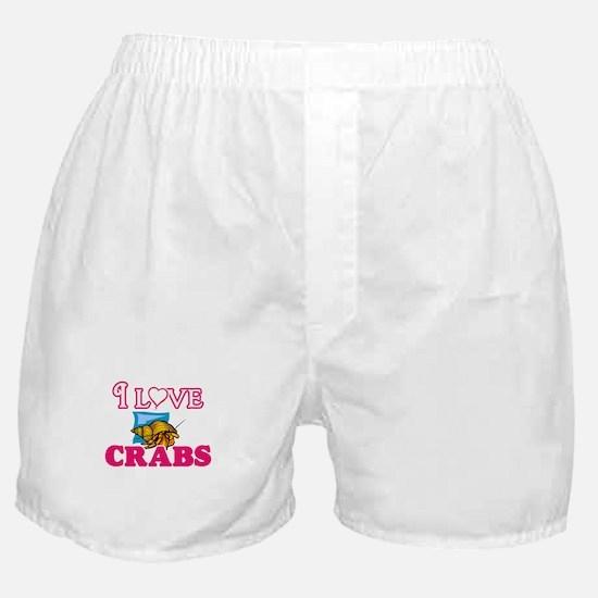 I Love Crabs Boxer Shorts