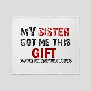 Cool Sister Designs Throw Blanket