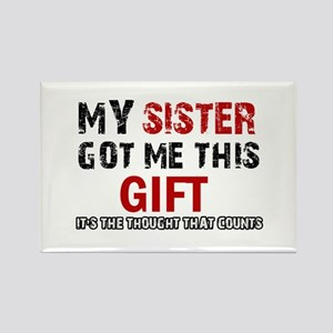 Cool Sister Designs Rectangle Magnet