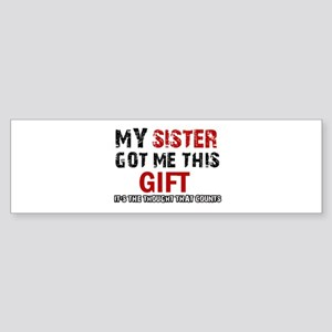 Cool Sister Designs Sticker (Bumper)