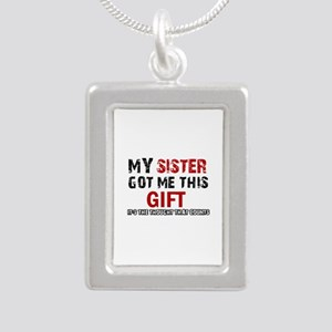 Cool Sister Designs Silver Portrait Necklace