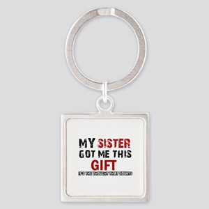 Cool Sister Designs Square Keychain