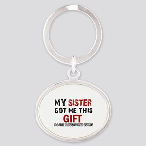 Cool Sister Designs Oval Keychain
