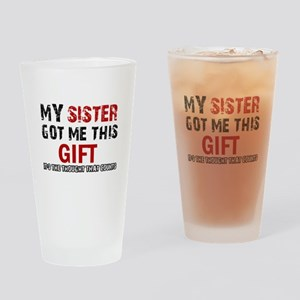 Cool Sister Designs Drinking Glass