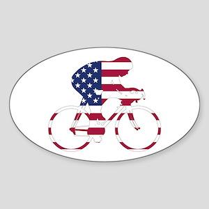 U.S.A. Cycling Sticker (Oval)