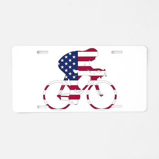 U.S.A. Cycling Aluminum License Plate