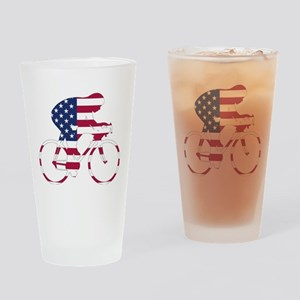 U.S.A. Cycling Drinking Glass