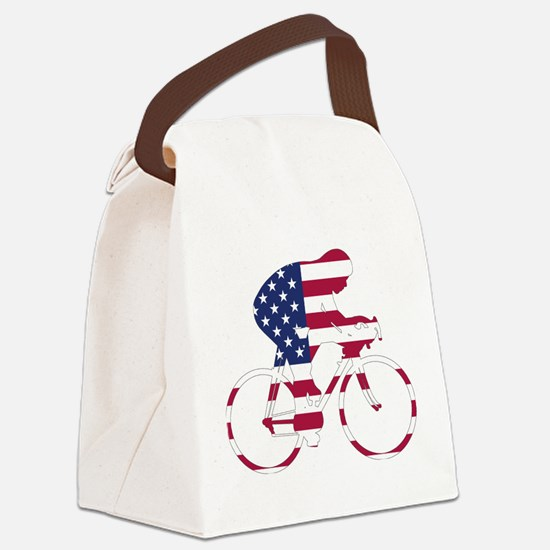 U.S.A. Cycling Canvas Lunch Bag