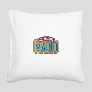 The Amazing Mario Square Canvas Pillow