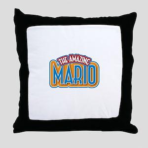 The Amazing Mario Throw Pillow