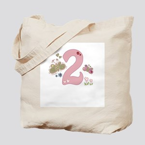"""""""Butterfly Birthday: 2"""" Tote Bag"""