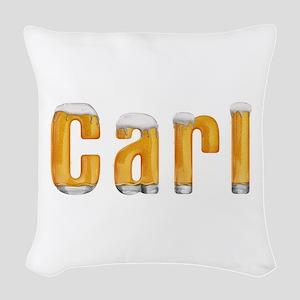Carl Beer Woven Throw Pillow