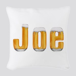 Joe Beer Woven Throw Pillow