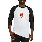 Hot Chick - (Chicken on Fire) Baseball Jersey
