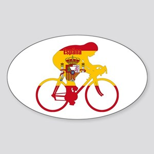 Spanish Cycling Sticker (Oval)