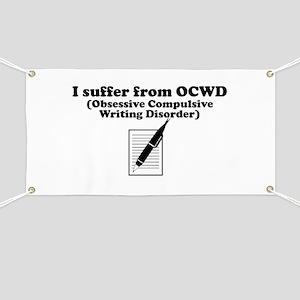 Obsessive Compulsive Writing Disorder Banner