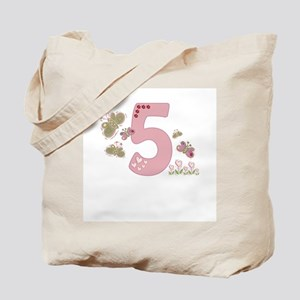 """""""Butterfly Birthday: 5"""" Tote Bag"""