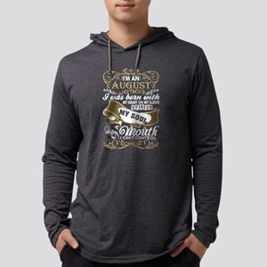 Im An August Woman I Was Born Wi Mens Hooded Shirt