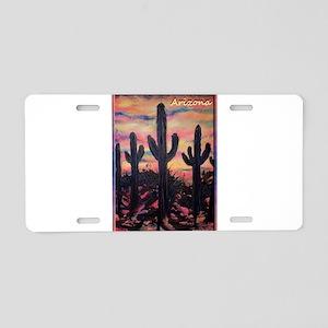 Arizona! Saguaro cactus Aluminum License Plate