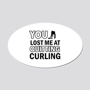 Hardcore Curling designs 20x12 Oval Wall Decal