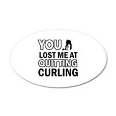 Hardcore Curling designs Wall Decal