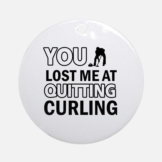 Hardcore Curling designs Ornament (Round)