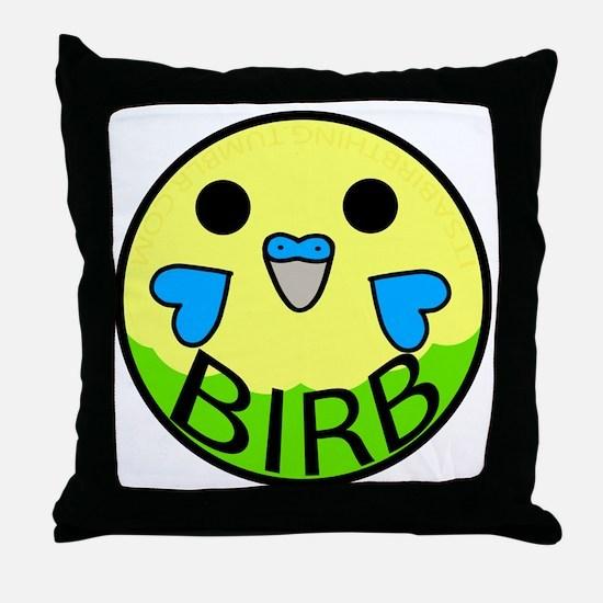 Funny Blue parakeet Throw Pillow