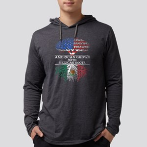 American Grown With Mexican Root Mens Hooded Shirt