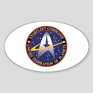 Starfleet Command Emblem Sticker (Oval)