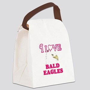 I Love Bald Eagles Canvas Lunch Bag