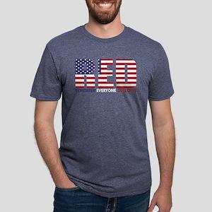 Red Remember Everyone Deplo Mens Tri-blend T-Shirt