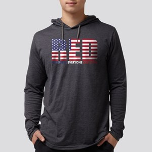 Red Remember Everyone Deployed Mens Hooded Shirt