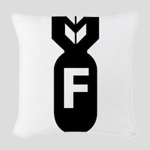 F Bomb, F-Bomb Woven Throw Pillow