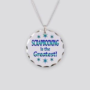 Scrapbooking is the Greatest Necklace Circle Charm
