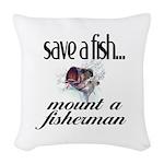 Save a Fish Woven Throw Pillow