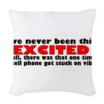excited.png Woven Throw Pillow