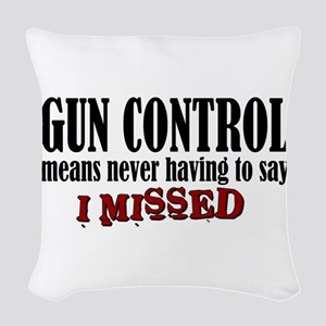 Gun Control Woven Throw Pillow