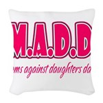 M.A.D.D. Woven Throw Pillow
