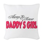 DADDYSGIRL.png Woven Throw Pillow