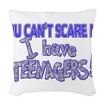 SCAREMETEENS.png Woven Throw Pillow