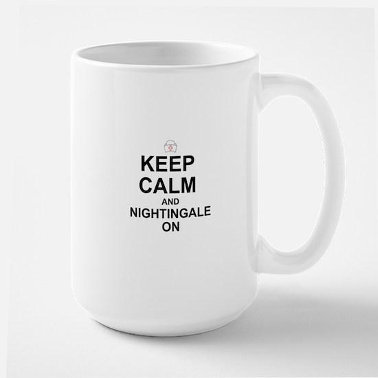 NURSE: KEEP CALM, NIGHTINGALE ON Mugs