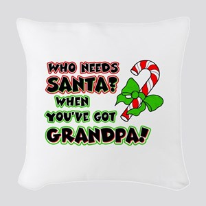 grandpasanta Woven Throw Pillow