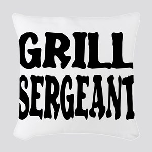 grill sergeant Woven Throw Pillow